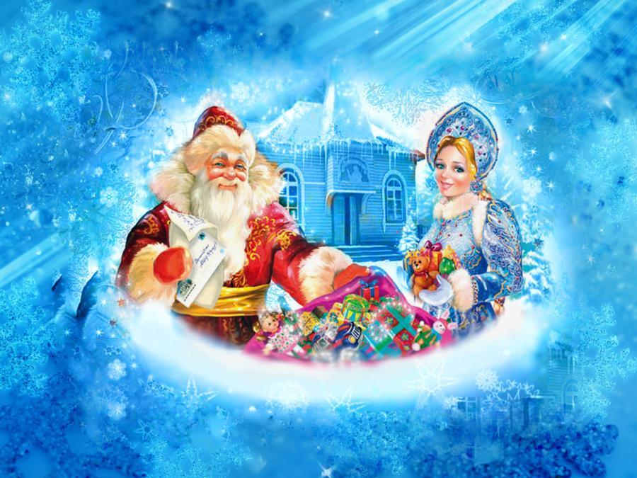 Дед мороз и снегурочка в театре